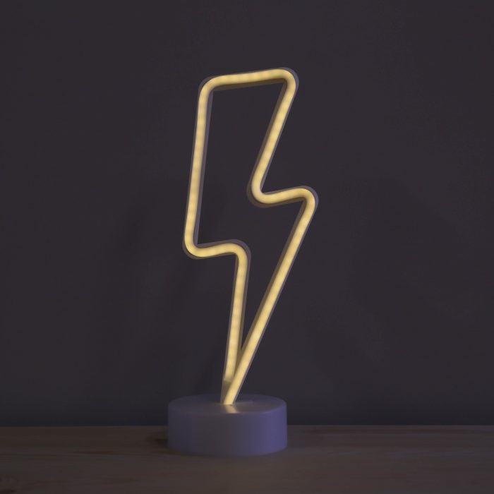 Neon-Lightening-Bolt-Night-Light-3